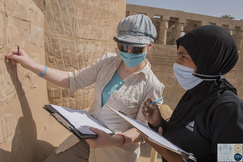 Kiosque de Taharqa - temple de Karnak - relevés épigraphiques
